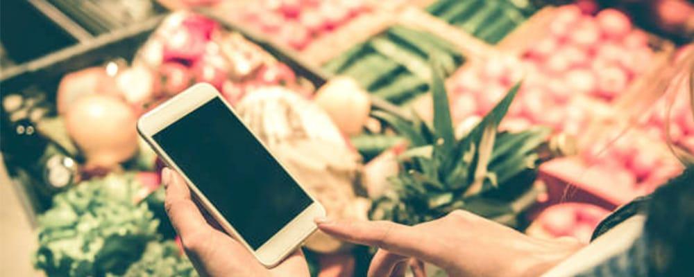 App com leitor QR Code para fruta