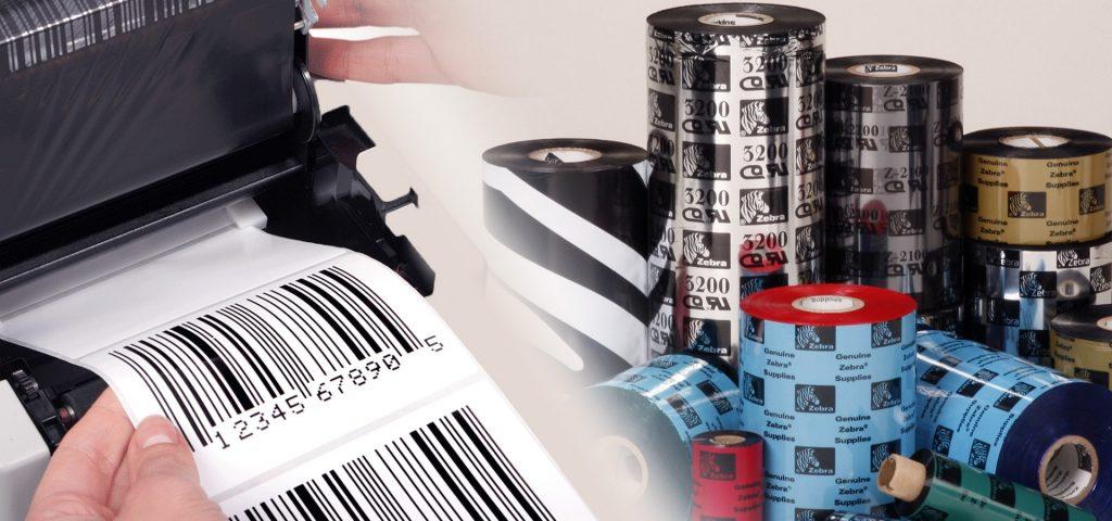 Conjunto de consumiveis da Altronix, etiquetas, impressoras e ribbons