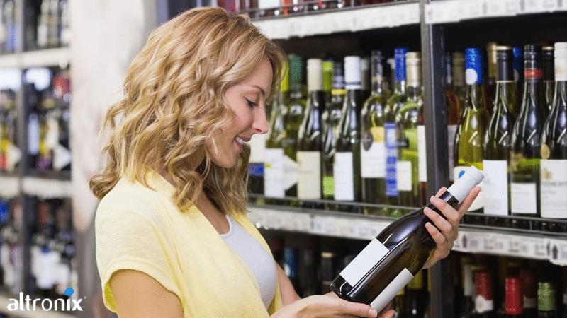 Escolha de vinho no supermercado